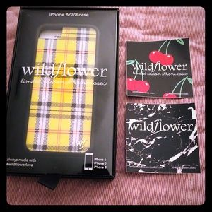 "Yellow Plaid ""Wildflower"" Phone Case"
